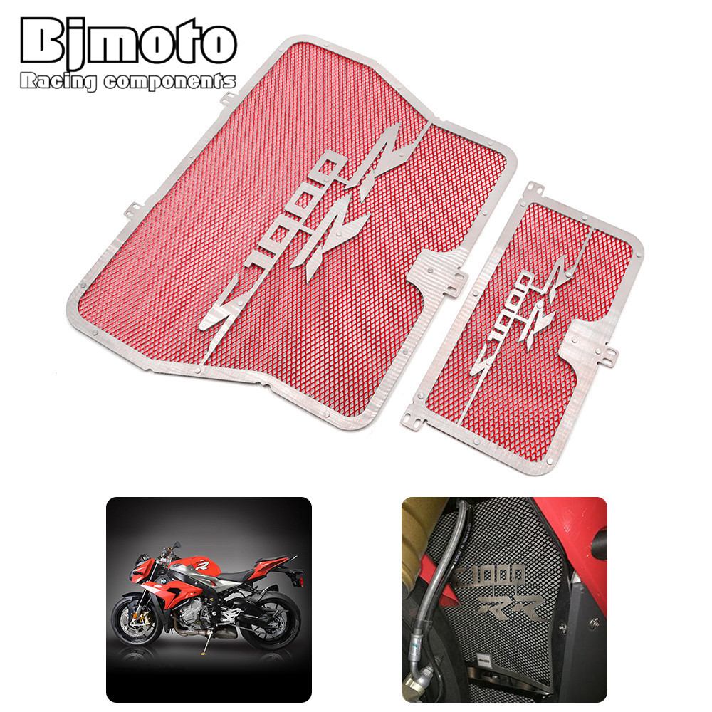 Bjmoto For BMW S1000R 2014 2015 S1000RR 2010-2016 Grille Oil Cooler radiator guard protector S1000XR 2015 2016 HP4 2012-2014 какой смартфон в 2014 2015