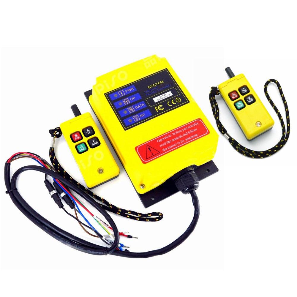 2 Zenders 1 Ontvanger Hoist Crane Radio Systeem Controller 1 Speed 4CH 220 V 380 V 12 V Draadloze Afstandsbediening Schakelaar 430 ~ 440 MHz