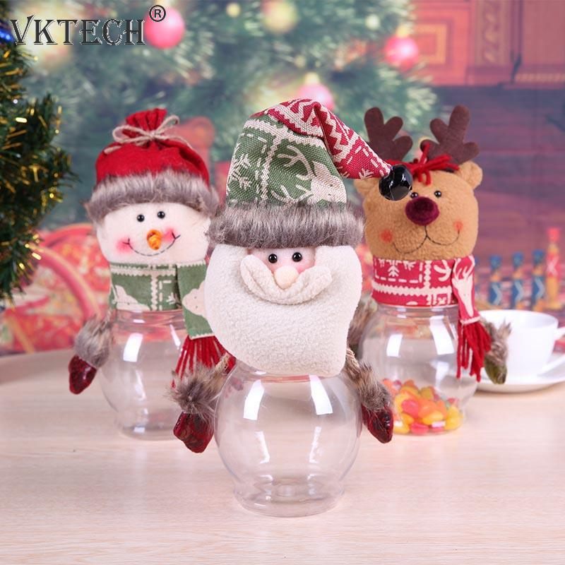 Where To Buy Christmas Decorations Year Round: Christmas Candy Jar Round Bottle Candy Box Container Xmas