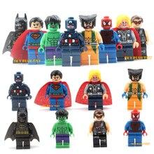 Строительный heroes minifigures marvel мстители действий детям super блок серии dc