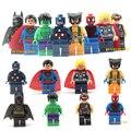 8 Pçs/lote The Avengers Marvel DC Super Heroes Ação Series Building Block Brinquedos Novos Brinquedos Infantis Presente