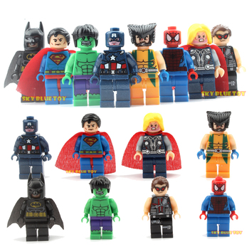8 Pcs/lot The Avengers Marvel DC Super Heroes Series Action Building Block Toys New Kids Toys Gift