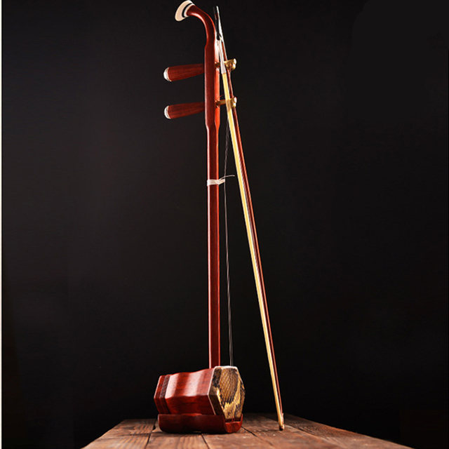 Traditional Erhu Handmade Chinese Folk String Musical Instruments Wood Chinse Violin with English Learning Book Gift