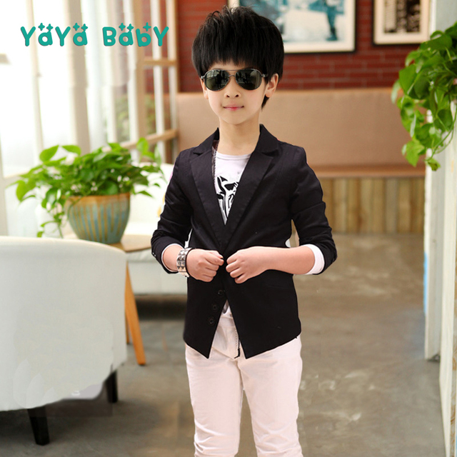 f3d57d19f61b Spring Autumn Boys Blazers 2018 New Fashion Kids Top Clothes for Boys 5 6 7  8 9 10 11 12 13 14 Year Children Outerwear