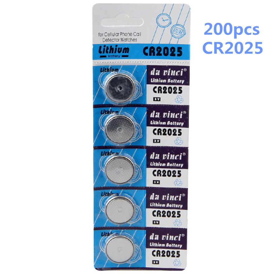 Enthusiastic 200pcs/lot Hot Sale Cr2025 Button Battery 3v Lithium Ion Battery Ecr2025 Br2025 2025 Kcr2025 Car Key Toy Button Battery Batteries Consumer Electronics