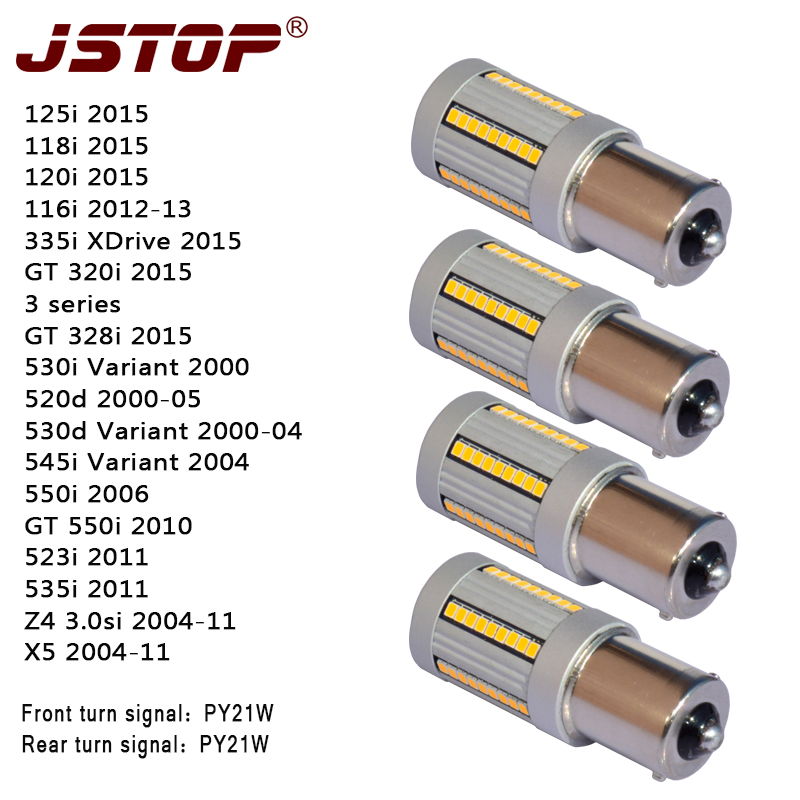 JSTOP 4PCS/set 120i X5 545i 535ii Z4 GT550i 335i 12V BAU15S PY21W 1156PY canubs no errors led turn Lights Front Rear Turn Signal antari z 800 ii page 5
