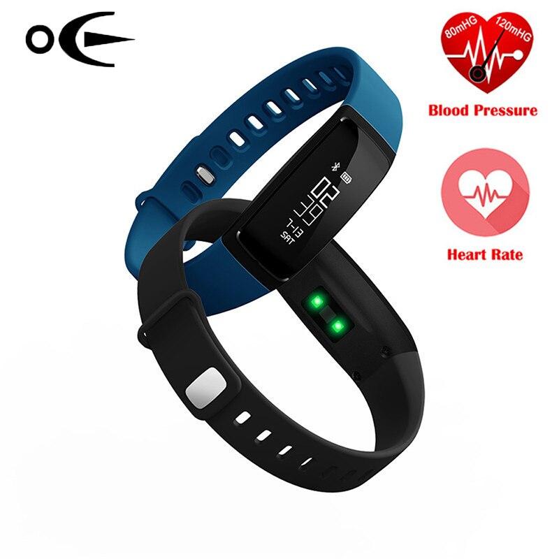 Bluetooth Smart часы Приборы для измерения артериального давления метр Мониторы браслет спортивные часы Шагомер модные женские туфли Смарт Брасл…