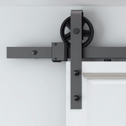 150 centímetros-300 centímetros Do Vintage Industrial Roda Deslizante Celeiro Interior Porta de Madeira Porta Do Armário Da Cozinha Porta Kit Pista Pista hardware do sistema