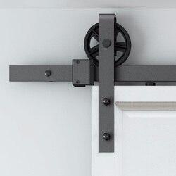 Para Russian Vintage rueda Industrial deslizante puerta de madera de Granero Puerta de armario Interior cocina pista de la puerta Kit de seguimiento de Hardware del sistema