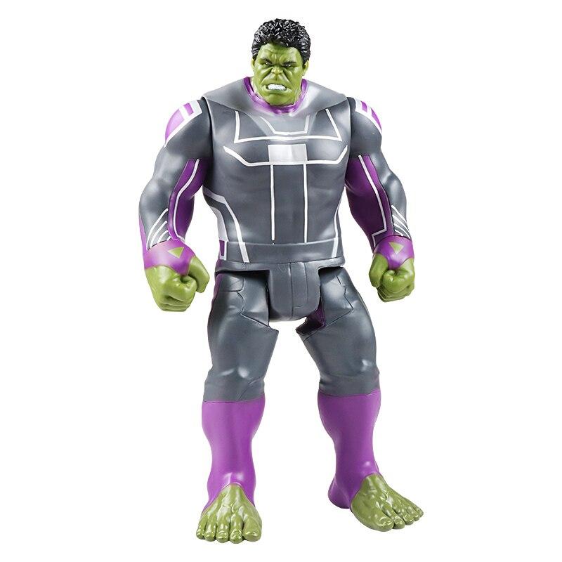 30 см Marvel Мстители игрушки танос Халк Бастер человек паук Железный человек Капитан Америка Тор Росомаха Черная пантера фигурка куклы - Цвет: New Hulk no box
