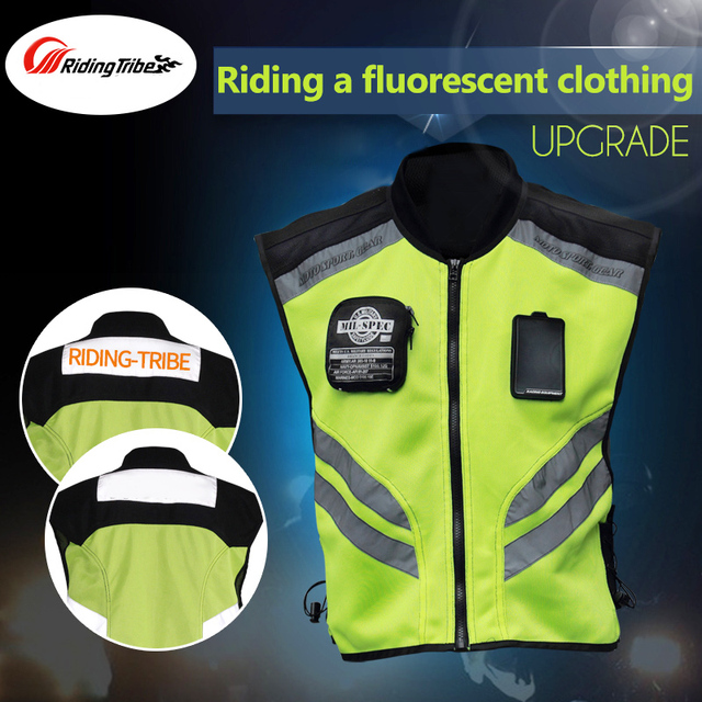 Riding Tribe Motorcycle Sleeveless Jacket Safety Motorbike Motocross  Waistcoat Reflective Jacket Cloth Suits Racing Moto Vest 22 f71633b097c0d
