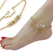 Lucky Elephant Metal Beads Anklet Bracelets New fashion Animal Foot Jewelry Anklets For Women Girl Beach Gift Y4