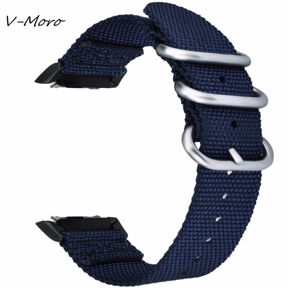 Gear S2 SM-R720 Wrist Band V-MORO 2018 Newest Nylon Gear S2 Band With Adapter Watch Strap For Samsung Gear S2 Straps SM-R730 смарт часы samsung gear s2 black