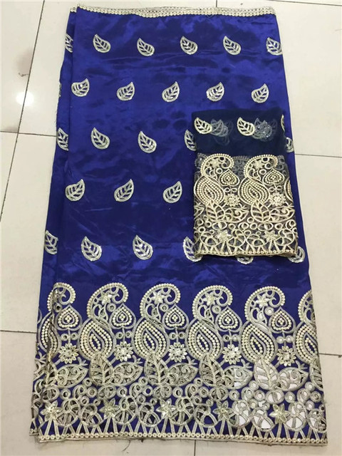 african sequins george lace fabric with 2 yard french net lace blouse for  nigerian lady dress (5yard lot) LYG-45-1 c53e14fda3a1