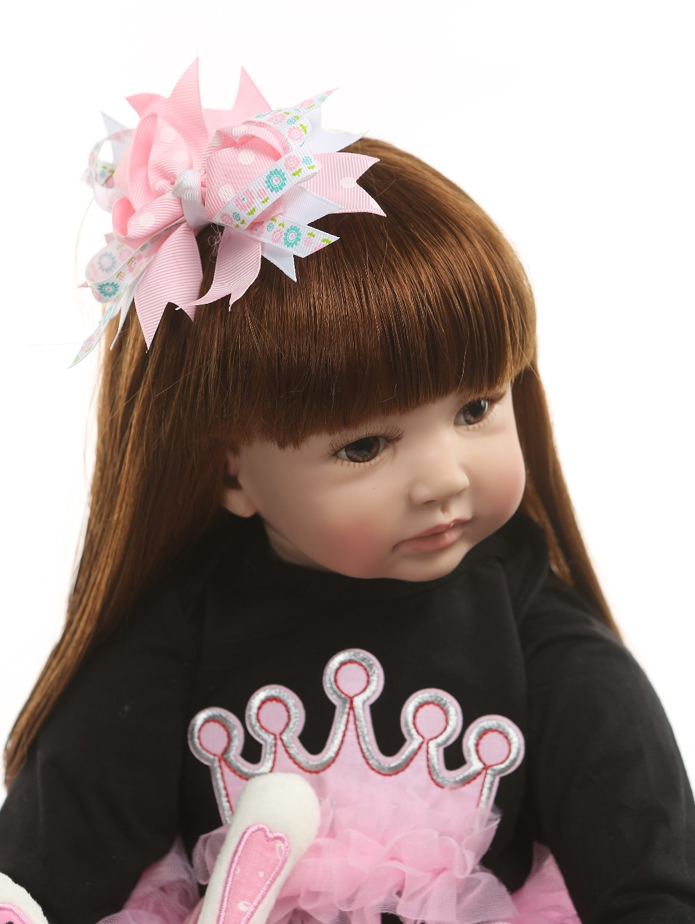 NPK 60cm Reborn Toddler Princess Handmade Doll Adorable Lifelike Baby Bonecas Girl Kid Bebe Doll With