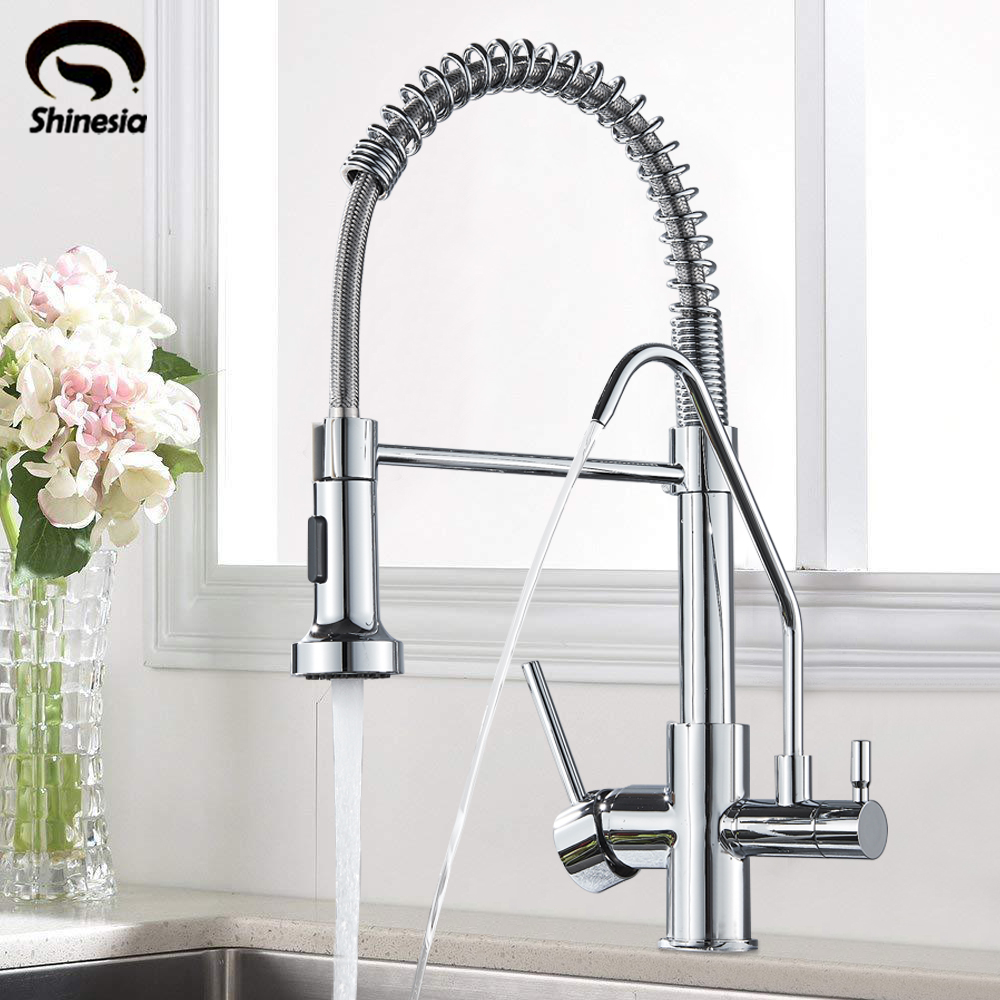 Waterfilter taps Kitchen Faucet Pure Water Spout Tap Single Hole Vessel Sink Purification Hot andf Cold