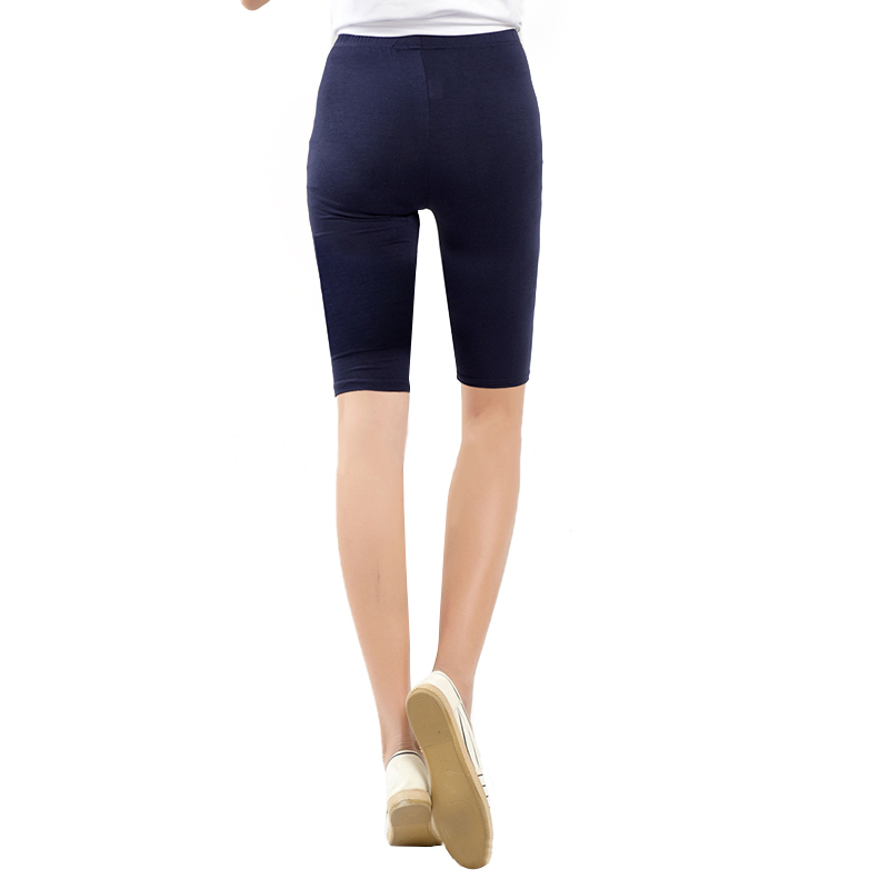 Women   shorts   Knee Length Elastic Solid Color Running Fitness Girl Casual Trousers Plus Size 3-5XL FDC99