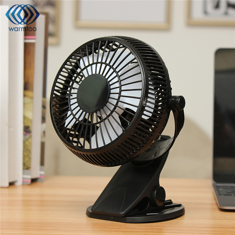 1Pc Portable Clip-on Quiet Table Fan 2 Gear Rocker Switch Mini Desk Fan USB Powered Cooling Flexible Computer Fan for PC Laptop laptop cooling fan for asus pu500ca fan