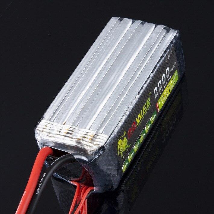 1Pcs Lion Power Lipo battery 22.2V 2200MAH 30C 6S Max 35C fast charing RC Lipo battery
