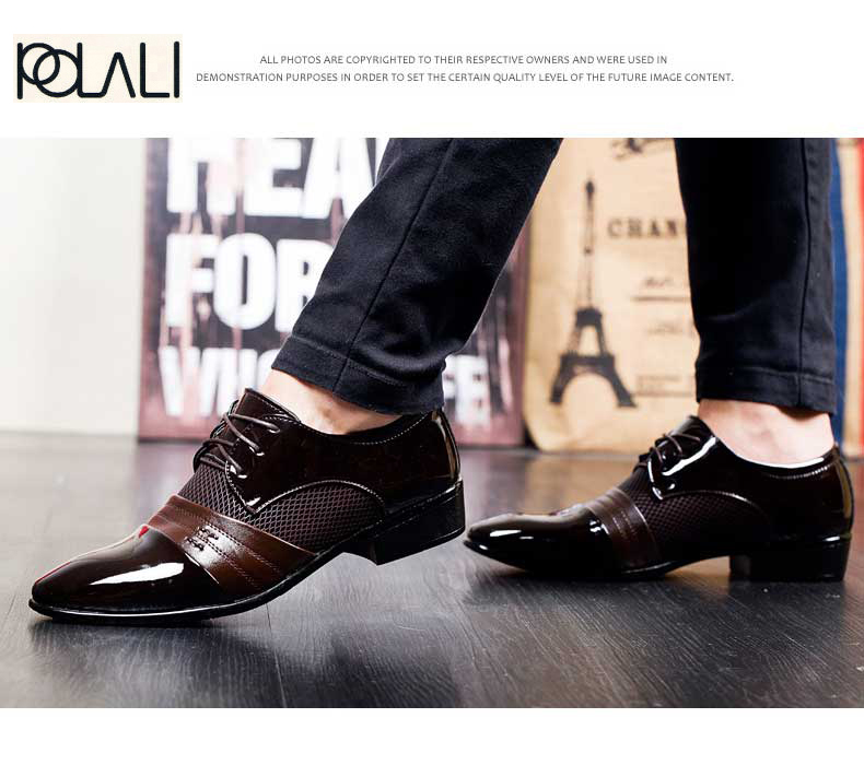 Formal Shoes Sensible Brand Patent Leather Business Mens Dress Shoes Pointed Toe Oxford Shoes For Men Breathable Mesh Formal Office Flats Eu 38-48 Shoes