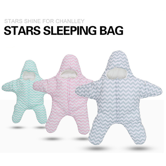 Cute Baby Infant Newborn Swaddle Cotton Sea Star Shape Sleeping Bag