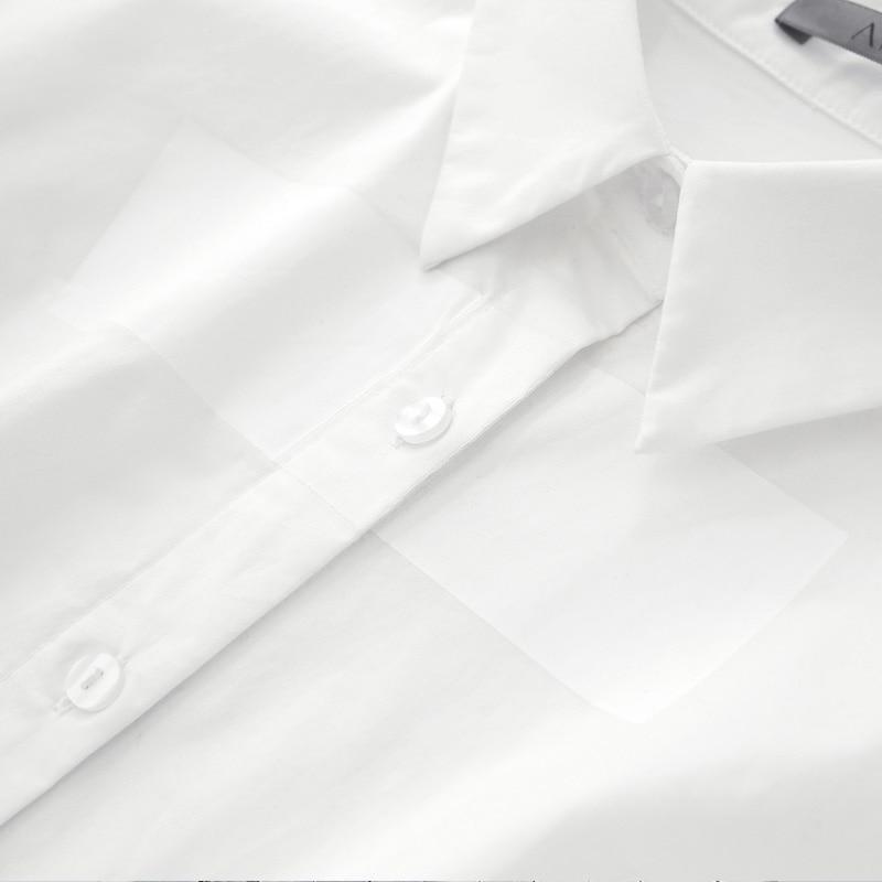 Printemps Géométrique Amii Noir Solide Bouton Office 2019 blanc Lady Femmes Femme Chemises Blouse Minimaliste Blouses zwxfwqrOt