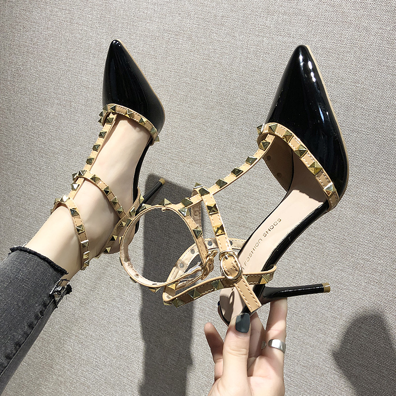 High-Heels Studded Liu Pointed Female Single-Shoes Fine Sexy Summer Women' Shallow