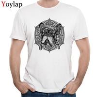 Groothandel Slim Fit T-Shirt Retro Tees Designer heren Tops Shirts Animal Gedrukt Op Korte Mouwen Tee-Shirt Crew hals Puur Katoen