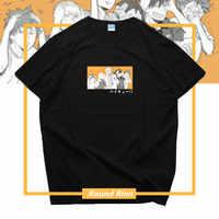 Haikyuu Nekoma Karasuno Hohe Kageyama Tobio Hinata Shoyo Gedruckt T Hemd Cosplay Kurzarm T-shirt