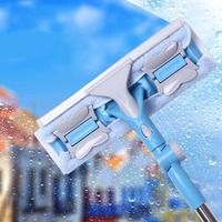 New Arrival Universal Household Glass Window Cleaning Tool Telescopic Rod Double Sided Long Handle Window Cleaner