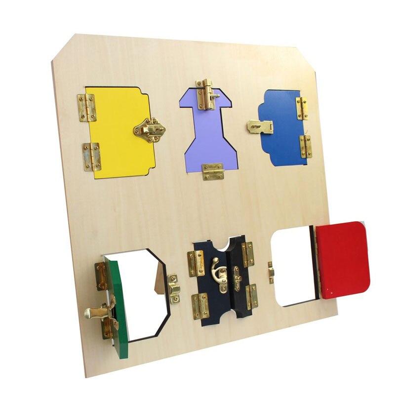 En bois Montessori Jouets Infantile Carte De la Serrure Sensorielle Puzzle Éducatif Apprentissage Jouets Pour Filles Cadeau D'anniversaire ME2346H