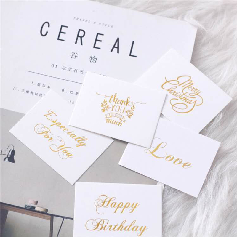 20PC/Wedding invitation greeting cards Happy birthday party small gifts thanks you cards/place decoration cards/Postcards image