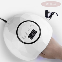 72W White Big UV LED Nail Lamp Manicure/Pedicure For Hands Nail Dryer for Curing Nail Gel Nail Salon Tool pandahall portable manicure nail table for nail station desk beauty salon equipment black white foldable nail desk