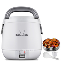 RX MN15F Home Electric Rice Cooker Portable Mini Rice Cooking Machine280W Dormitory 1 2 People Multifunction Cooking Pot 220V
