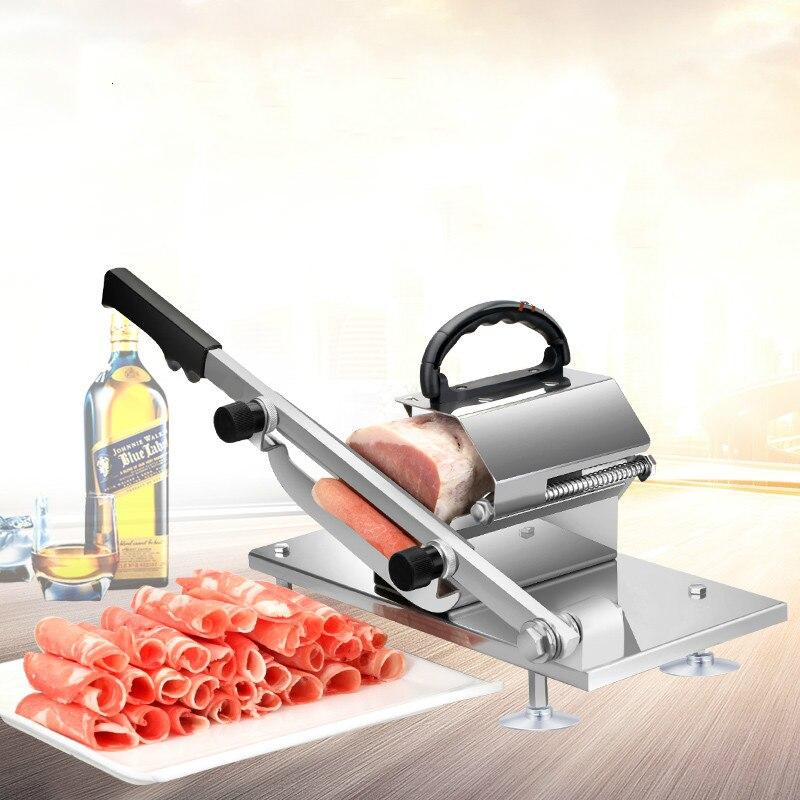 XF-200 вручную ягненка резки мяса Slicer ягненка фрукты и овощи ломтик
