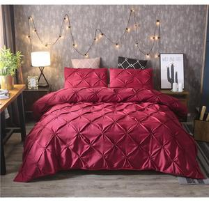 Image 3 - White Duvet Cover Set Pinch Pleat 2/3pcs Twin/Queen/King Size Bedclothes Bedding Sets Luxury Home Hotel Use(no filling no sheet)