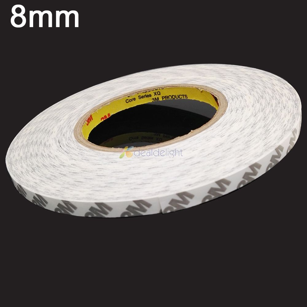 8mm 10mm 12mm Double Sided Tape 3M Adhesive Tape Width for 5630 5050 Led strips, LCD screen,car light 50m/roll