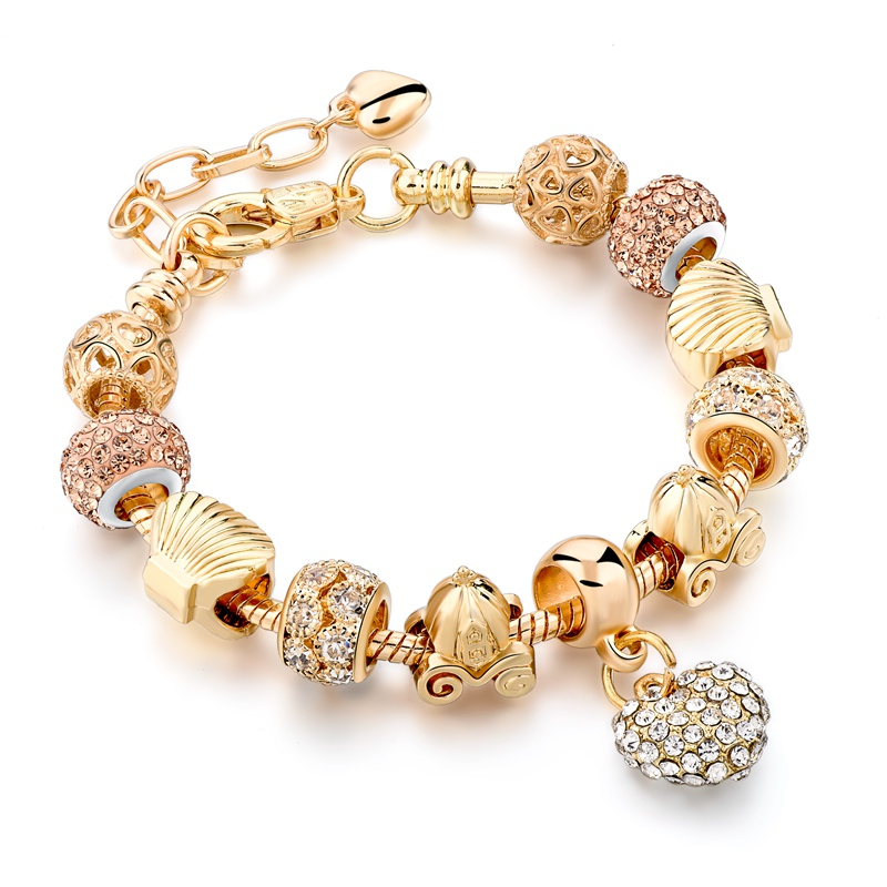 Crystal Heart Charm Bracelet 15