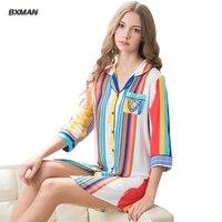 2016 Spring Polyester Women Sleepshirts Women Sleep Tops Simple Girl Sleepwear