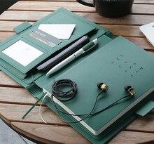 Business affairs Cuaderno de oficina con superficie de cuero para reuniones, Agenda de alta calidad, planificador sencillo de moda, diario de regalo, 2020