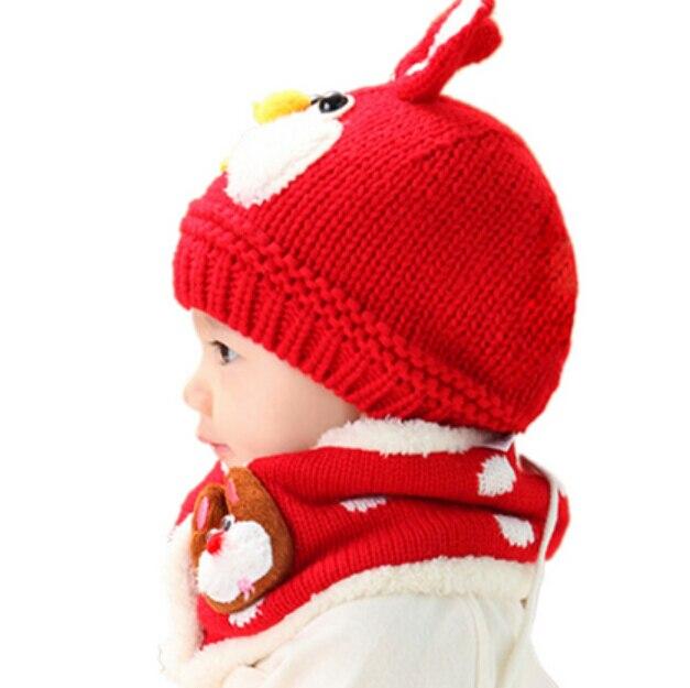 Azul Do Inverno Do Bebê Chapéu e Lenço Set Muito Quente Gorro Infantil cap  para as crianças meninos meninas crianças coelho bonito crochet malha xale  em ... 1bf52ee60a5