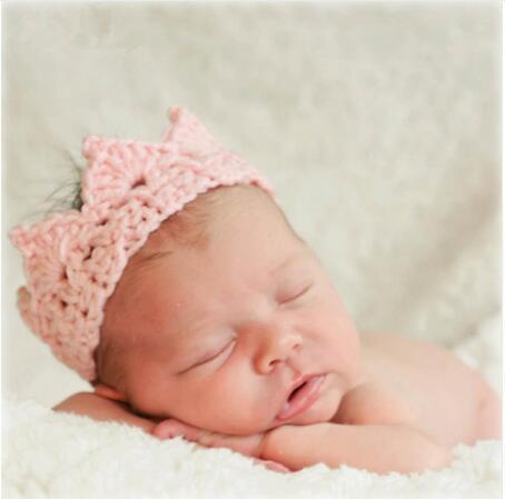 ON SALE 1PC Baby Infant Headband Crown Knitting Crochet Costume Soft Tiara Headband Newborn Photography Props Baby Photo Hat Cap