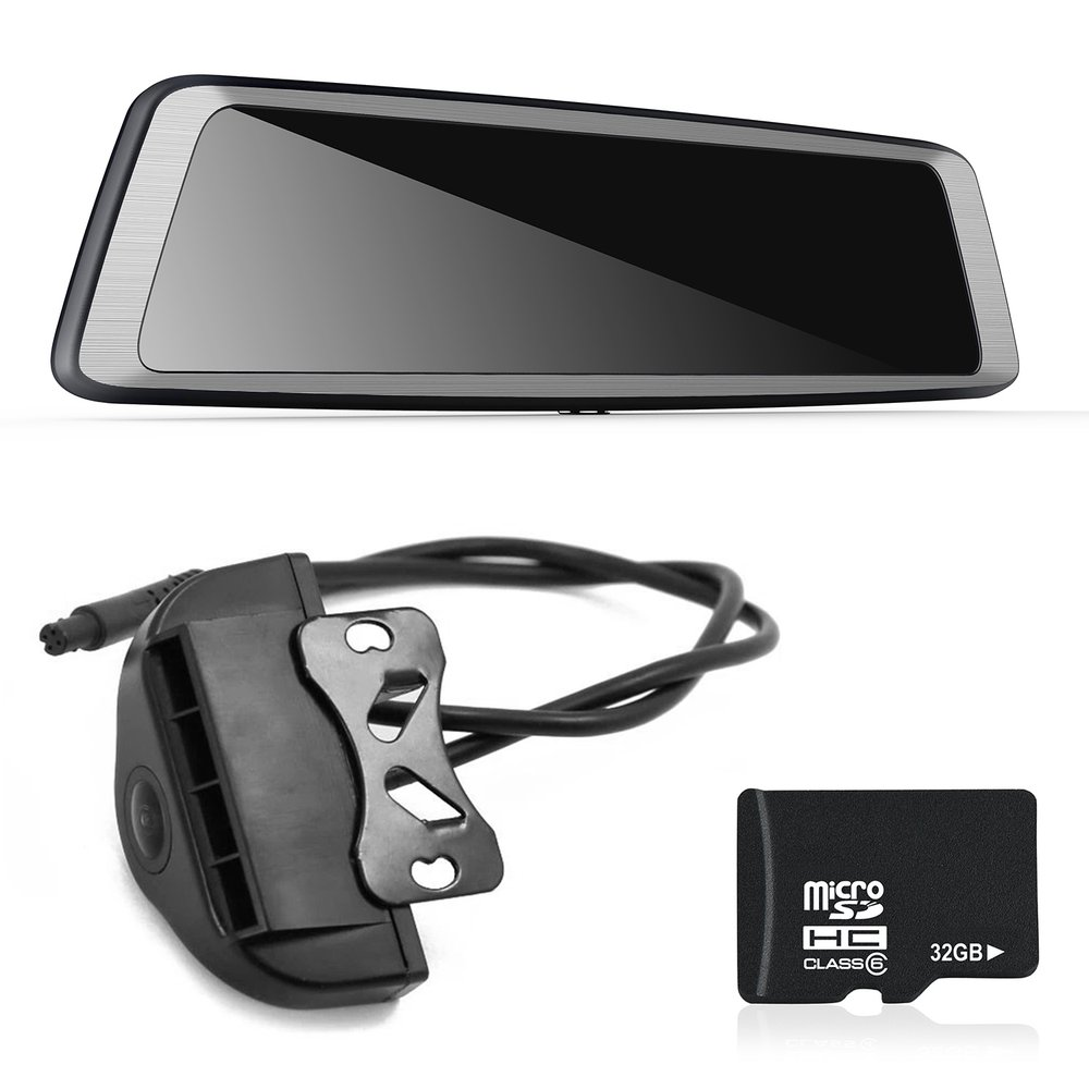 new k930 10 inch full screen 4g touch ips special car dash cam rear view reversing [ 1000 x 1000 Pixel ]