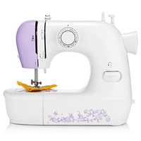 Upgrade! Household Mini Automatic Thread Sewing Machine Double Speed Control Button 12 Different Stitches Adjustable Speed Light