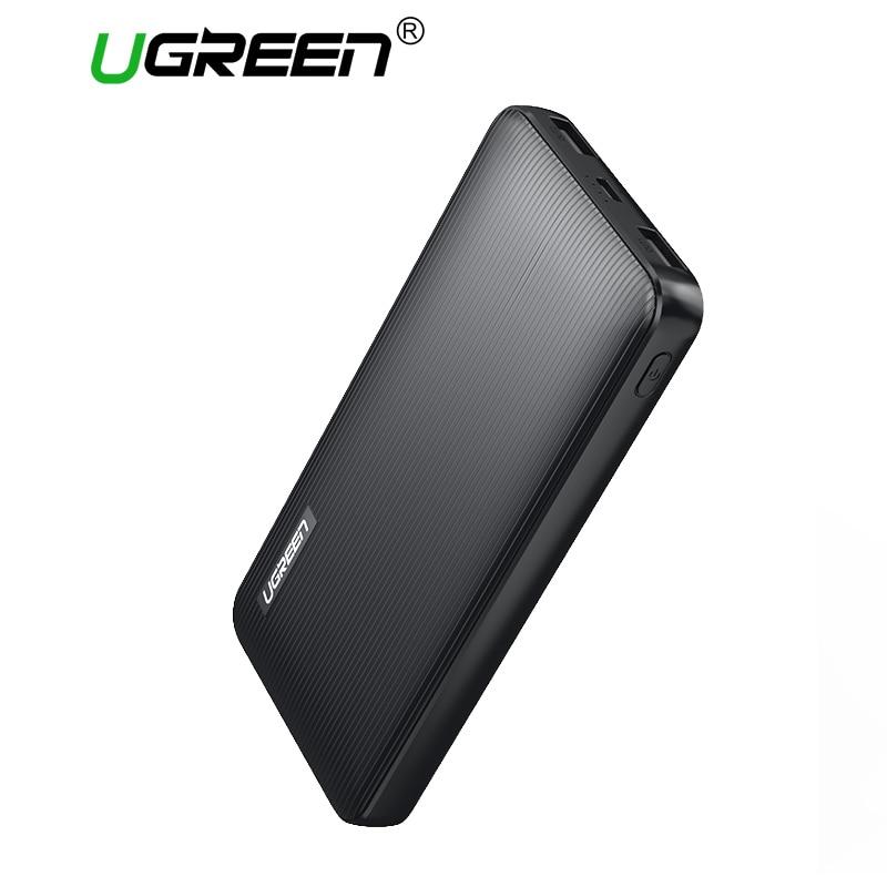 Ugreen 10000 mAh Banca di Potere Dual USB Powerbank Portatile Caricabatterie per Telefoni Cellulari per iPhone X SamsungS8 USB Batteria Esterna del Caricatore