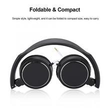 Faltbare Kompakte Wired Headset Stereo HiFi Musik Kopfhörer Unterstützung Speicher Karte Kopfhörer