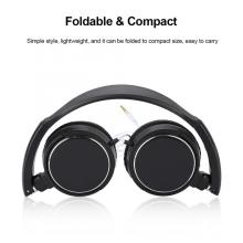 Foldable Compact Wired Headset Stereo HiFi Music Headphone Support Memory Card Earphone