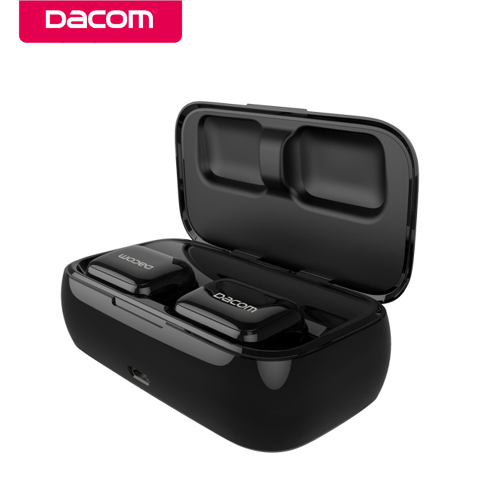 DACOM GF8 TWS Bluetooth Earphone with Microphone V4.2 True Wireless Earbuds Hands-free Stereo Headset with Charging Dock Cabin