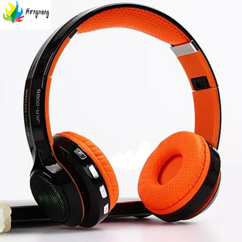 Bluetooth headset headband for stereo wireless headphones for a mobile phone computer Supports TF card + FM radio headsets sport wireless bluetooth headphones with microphone wired fm stereo radio mp3 player tf card for mobile phone iphone