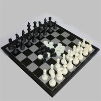 1 Set International Chess Foldable Magnetic Board Indoor Outdoor Chess Game New Vintage Resin Magnetic Chess Game